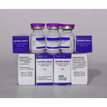 Инъекция гепарином натрия 25000 Iu & Actd / Ctd Досье гепаринового натрия