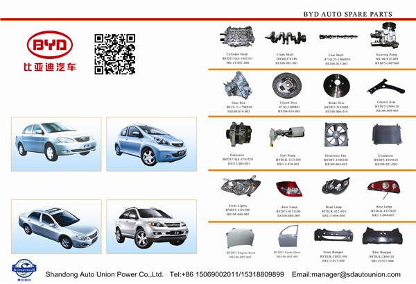BYD auto spare parts