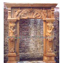Stone Marble Arch Door Frame for Doorway Door Surround (DR038)