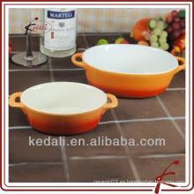 Diseño de cerámica de cerámica pote de sopa conjunto de dos