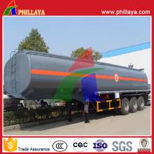 Camion-citerne de semi-remorque de camion-citerne liquide diesel de carburant d'acier au carbone