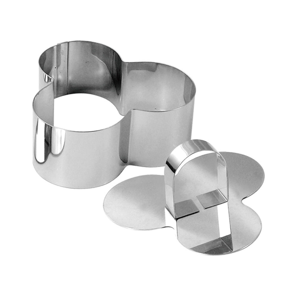 stainless steel dessert ring 4pcs