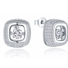 Серьга с бриллиантовым серебром 925 серебра с ювелирными изделиями CZ