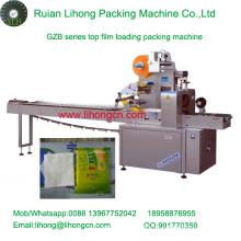 Gzb-350A de alta velocidad de almohada de tipo automático desechable flujo de tejidos envoltura de la máquina