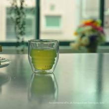 2 onças fantasia mini parede dupla xícara de chá