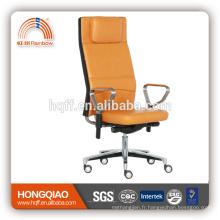 CM-B199AS-2 haut retour fabirc pivotant ascenseur en acier inoxydable accoudoir chaise de bureau