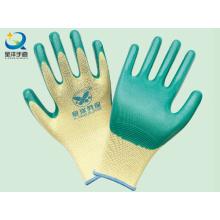 Polyester-Shell-Nitril beschichtete Sicherheits-Arbeitshandschuhe (N6010)