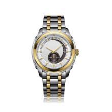 Мужская нержавеющая сталь Механические часы с сопротивлением воды 50 метров, Eta Movement