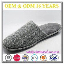 Fashionable cheap wholesale soft terry mens bedroom slippers