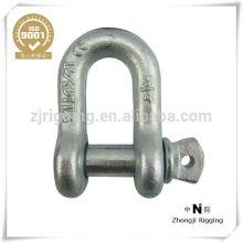 Metall-Verbindungselemente US-Art Bolzen und Nuss-Stahl-Tropfen-geschmiedeter Sicherheits-Schäkel hergestellt im Porzellanlieferant