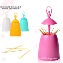 Automatic toothpick holder pocket fashion small cartoon shaped creative toothpick box