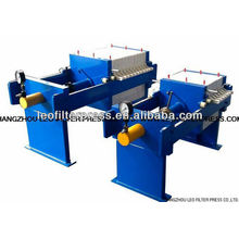 Prensa manual del filtro de la cámara de la operación manual hidráulica de pequeño tamaño, prensa del filtro de la cámara pequeña