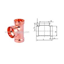 Equal Copper Tee for Plumbing / HVAC