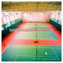 Inroll de plancher de sports de PVC de haute qualité pour le tennis d'intérieur