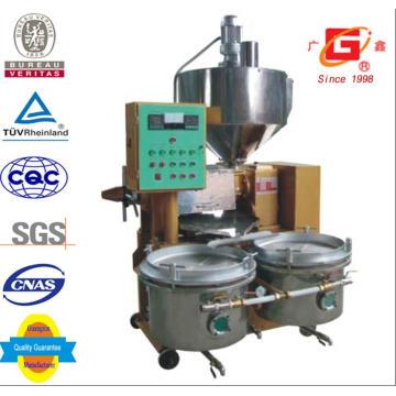 Máquina automática de prensa de óleo com frigideira e filtro de óleo