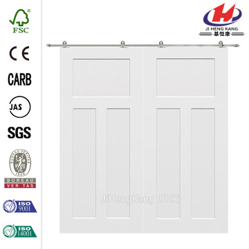 Craftsman Smooth Composite Double Barn Door