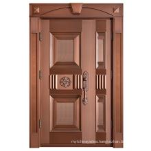 Solid Customized Color Exterior Door Popular Metal Door Copper Door