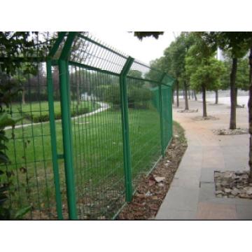 Malla de alta calidad curvada panel de la cerca, los paneles de malla de acero de malla