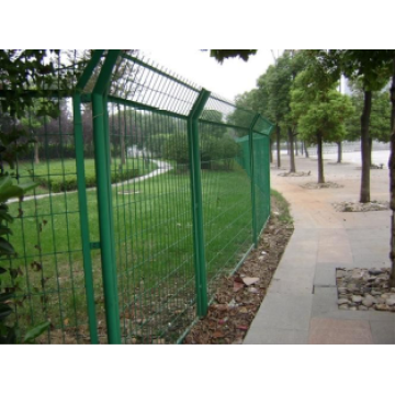 High quality mesh curved fence panel ,steel mesh fence panels