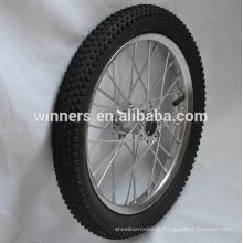 roda de bicicleta de aço larga 16 polegadas