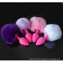 Rabbit Tails Anal Plugs Silikon Butt Sex Toys für Frauen