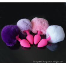 Rabbit Tails Anal Plugs Silicone Butt Sex Toys for Women
