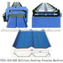 Máquina de formação de rolos conjuntamente escondida, maquina de fabricação de painéis de telhado, maquina de trabalho de rolos