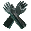 Grüne lange PVC-Sicherheitshandschuhe