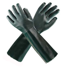Green Long PVC Safety Gloves