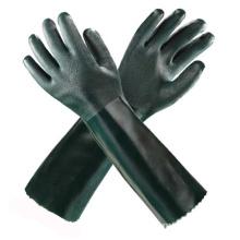 Зеленые долговечные защитные перчатки ПВХ