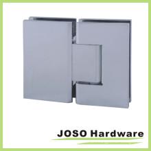 Polished Chrome Hidden Screw Adjustable 180degree Glass-to-Glass Hinge