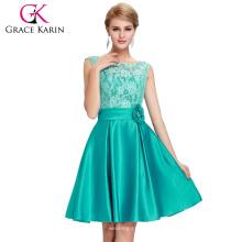 Grace Karin V-Back Noche Formatura Lace Green formal corto vestido de baile Abito Da Sera Formale Vestidos CL6116-1 #