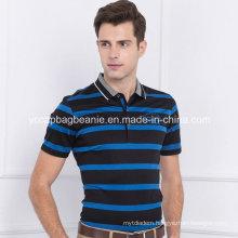 Young Man Polo Shirt, Men′s Stripe Shirt