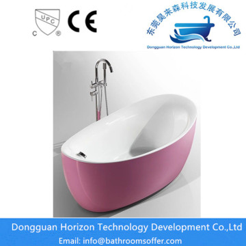 Pink freestanding bathtub pink acrylic tub