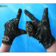 Military Camouflage Gloves with Velcro Closure