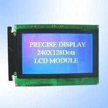 STN Negative Blue 240 x 128 Pixels Graphics LCD Module with White LED Backlight