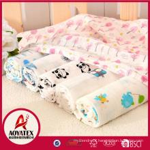Infantil 100% algodão orgânico novo design impresso musselina swaddle cobertor