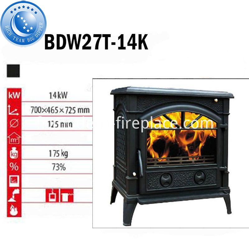 175KG Clean Cast Iron Wood Burning Stoves