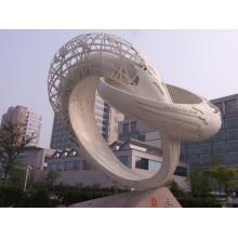 decoração de jardim ao ar livre escultura em pedra mármore escultura de granito abstrato