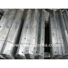 equipo de enlace, brazo cruzado galvanizado 75x75x10x2500