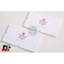 Geprägte Visitenkarte, Kunststoff-Visitenkarte