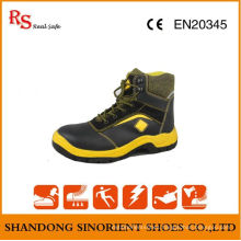 Black Action Leather Steel Toe Safety Jogger Shoes RS045