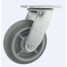 H16 Heavy Duty Type Double Ball Bearing Rubber Industrial Wheel Caster