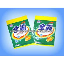 Bolsas de empaquetado detergente del agujero de colgar OPP / PE del detergente con la impresión modificada para requisitos particulares