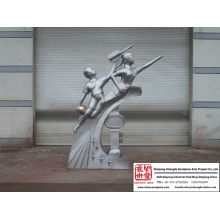 Gorgeous Carving Stainless Steel Sculpture