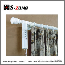 Drahtlose Fernbedienung AC-Motor Wand montiert elektrische Vorhang Stange