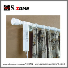 Wireless Remote control AC motor wall mounted electric curtain rod