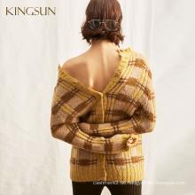 Modische Pullover für Frauen, Wollpullover Rundhalsausschnitt, Slouchy Oversize Style