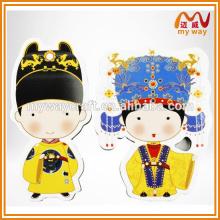 Дешевый пользовательский традиционный китайский персонаж мультфильма Магнит на холодильник для подарков