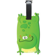 Green locor carton shape soft PVC promotional luggage tag, with fine quality good travel accessories
